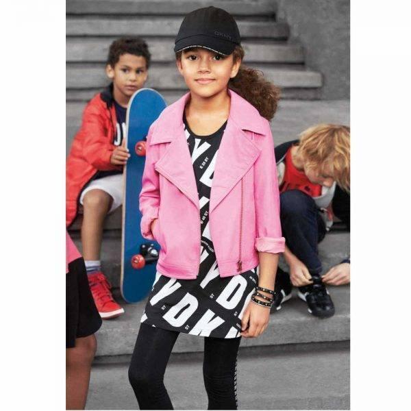 DKNY Girls Pink Biker Jacket