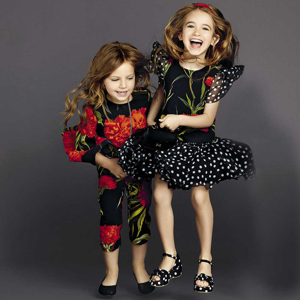 shop look DOLCE & GABBANA Black Silk & 'Red Carnation' Print Dress