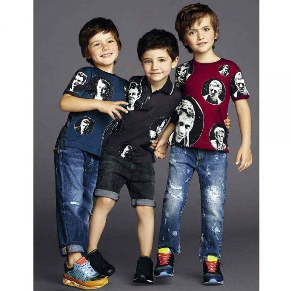 Dolce & Gabbana Boys Red 'Steve McQueen' Print T-Shirt