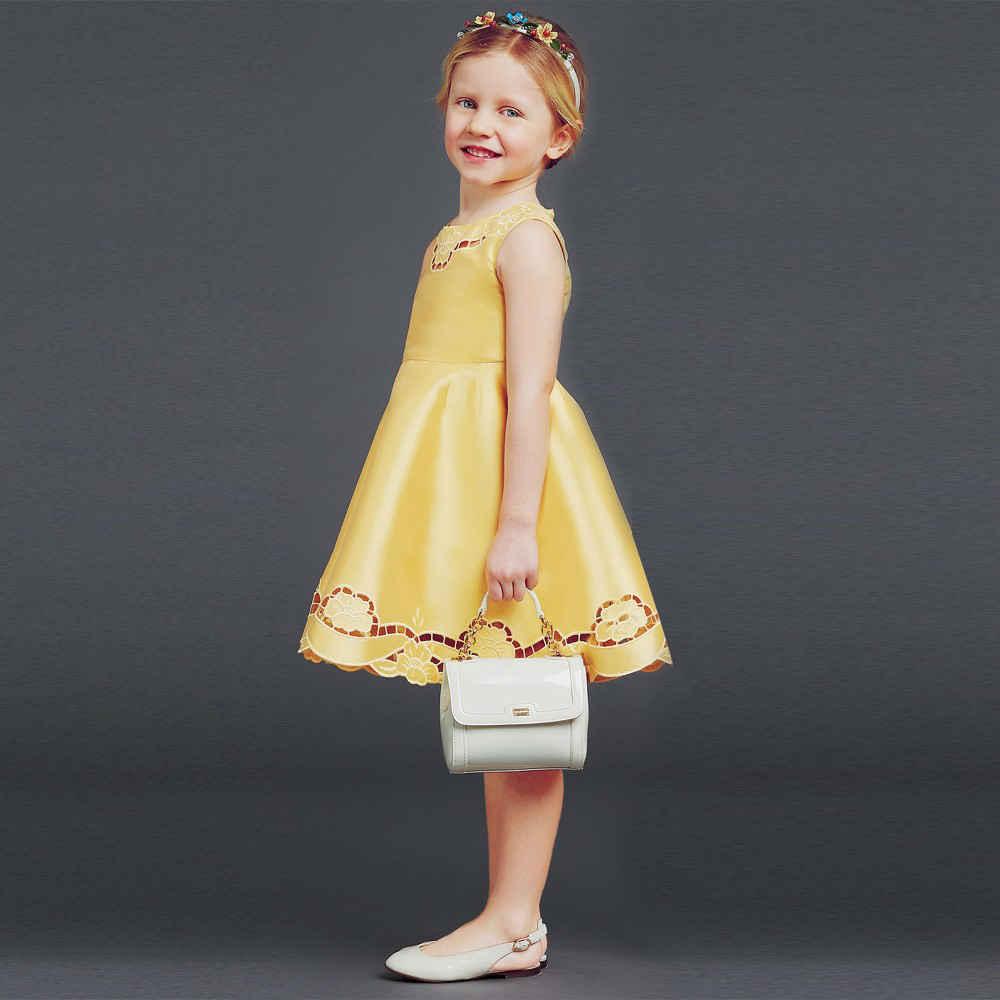 shop look DOLCE & GABBANA Gold Silk Dupion Dress