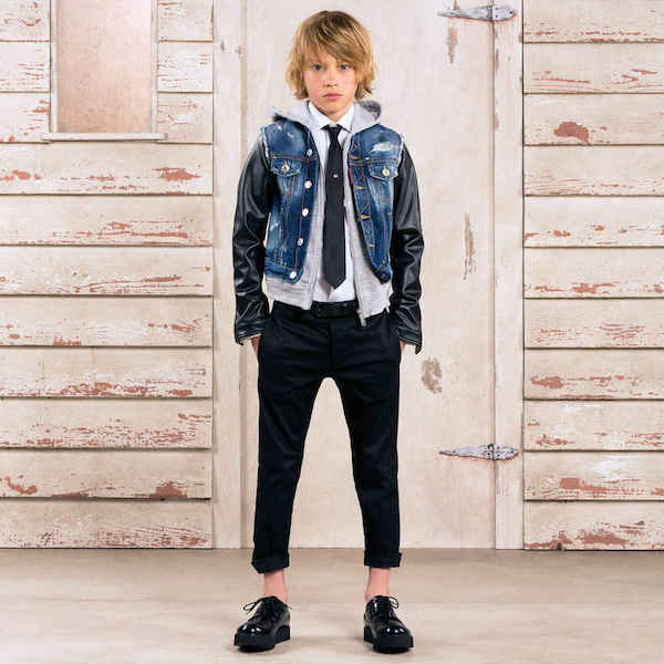 DSQUARED2 BOYS DENIM HOODED JACKET