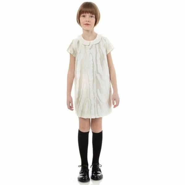 FENDI IVORY SEQUIN SPECIAL DRESS