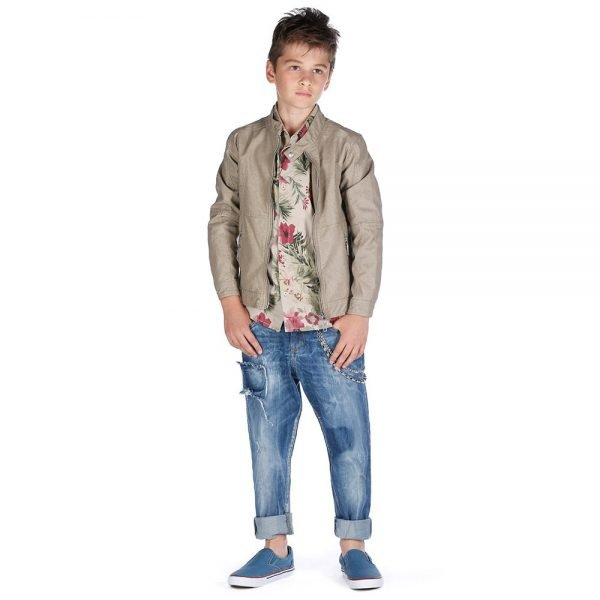 FUN & FUN BOYS BLUE DENIM JEANS WITH CHAIN