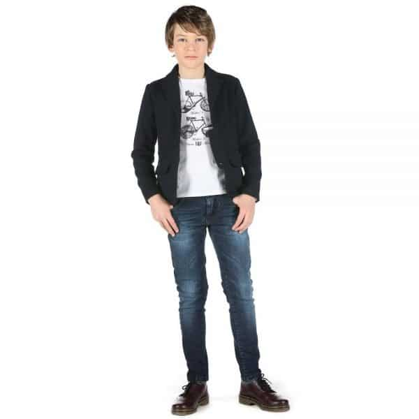 FUN & FUN BOYS NAVY BLUE TWILL JACKET