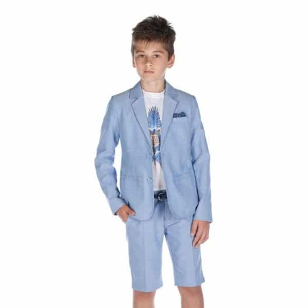 FUN & FUN BOYS PALE BLUE SHORTS AND JACKET