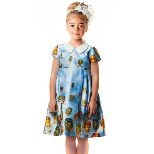GRACI PINK SATIN HOT AIR BALLOON DRESS WITH GEMS