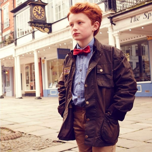 HACKETT BOYS GREEN WAX JACKET
