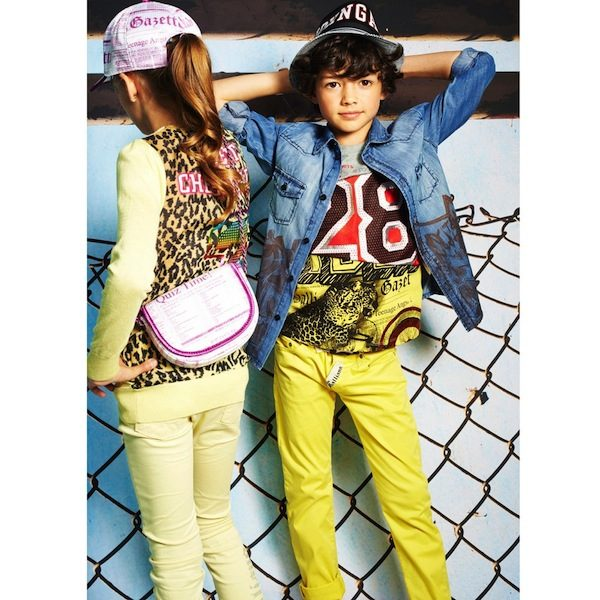 shop-look-JOHN-GALLIANO-Boys-Acid-Yellow-Cotton-Jeans