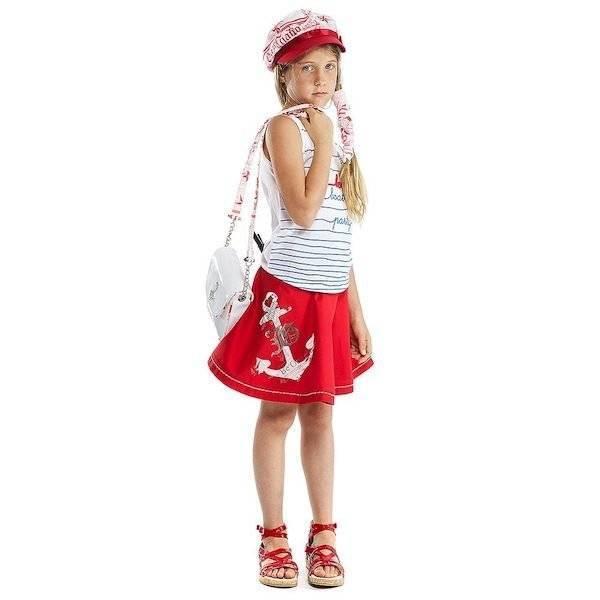 shop-look-JOHN-GALLIANO-Red-Full-Cotton-Twill-Skirt