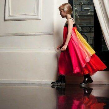 JUNIOR-GAULTIER-Bright-Silk-Dress-with-Swarovski-Crystals