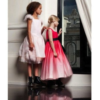 JUNIOR-GAULTIER-Dark-Pink-Couture-Tulle-Dress-with-Sash-Bow