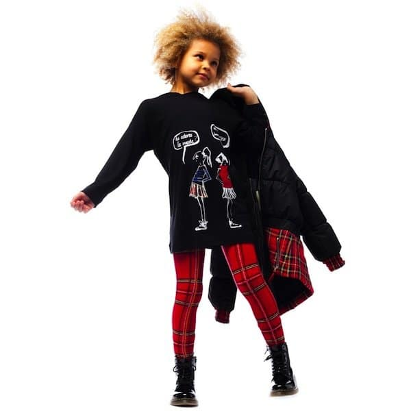 JUNIOR-GAULTIER-Girls-Black-Padded-Tartan-Jacket