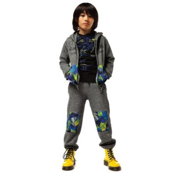 JUNIOR-GAULTIER-Grey-Marl-Jersey-Abstract-Print-Tracksuit