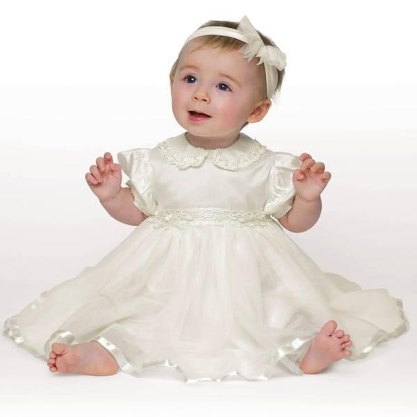 LITTLE DARLINGS IVORY SILK & TULLE 'TINKERBELL' DRESS