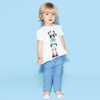 LITTLE MARC JACOBS GIRLS SLIM FIT SPOTTY JEANS