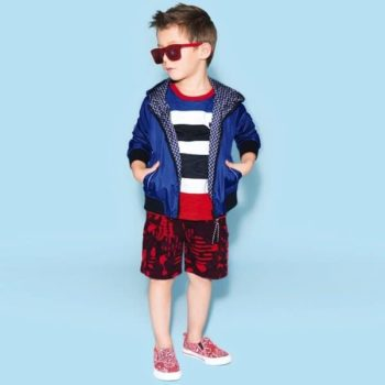 LITTLE MARC JACOBS BOYS BLUE REVERSIBLE SHOWERPROOF JACKET