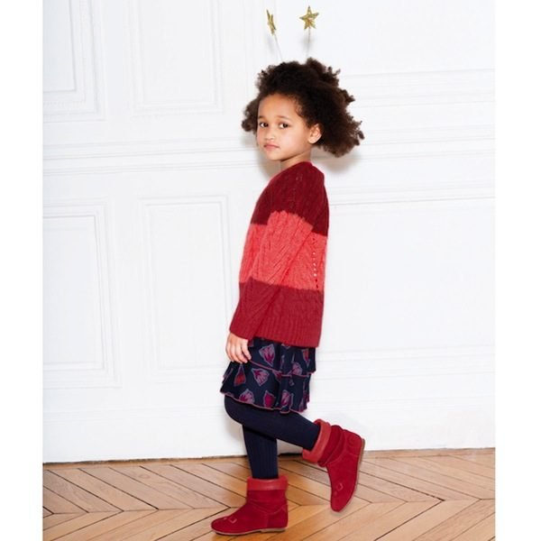 add60601465 Little Marc Jacobs Girls Pink Mohair Sweater