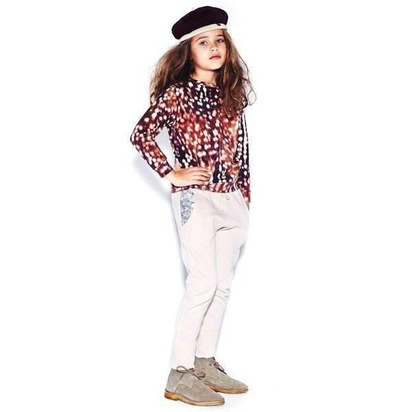 Molo Deerskin Print Reba Girls Jersey Top