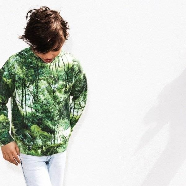 Molo Green Jungle Milton Sweatshirt