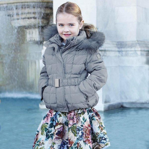 Monnalisa Girls Blue Down Padded Jacket