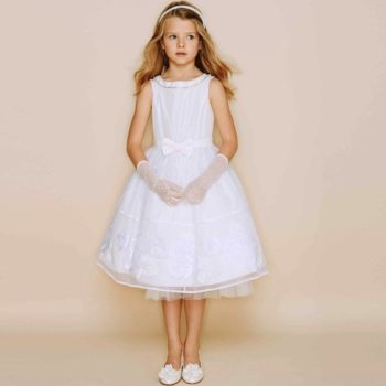 Monnalisa Ivory Couture Dress