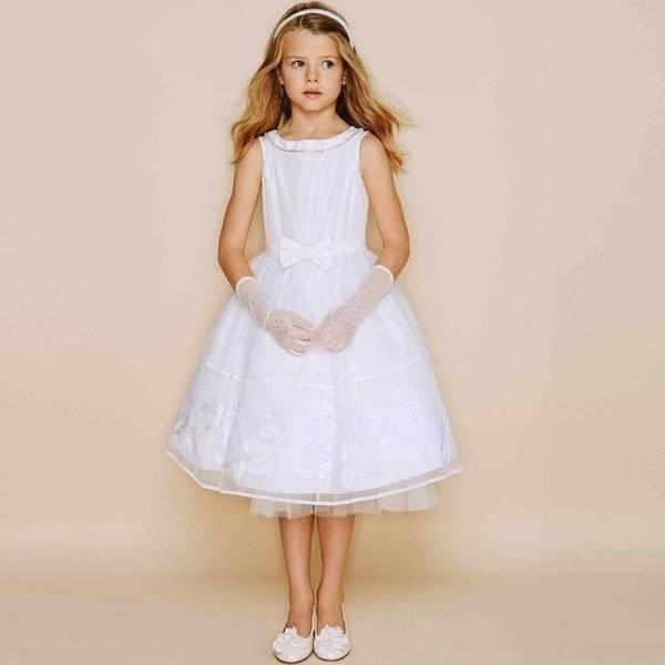 Monnalisa Ivory Couture Dress