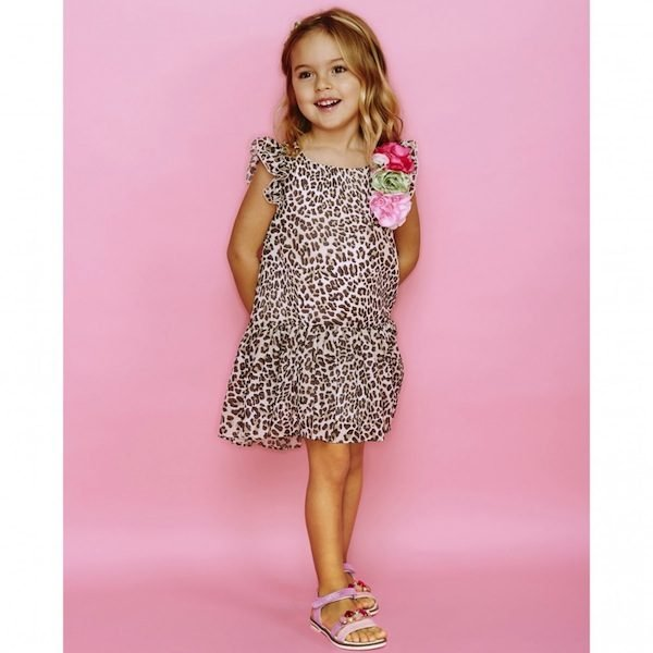 Monnalisa Girls Leopard Print Dress