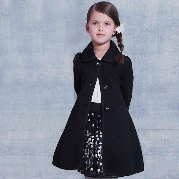 Monnalisa Girls Navy Blue Coat