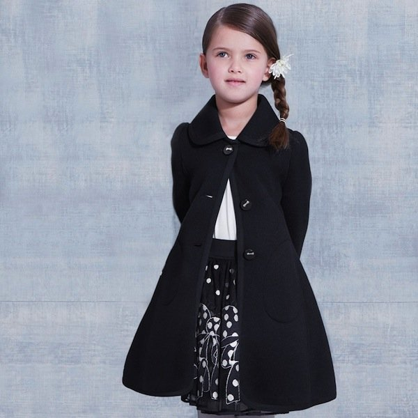 Monnalisa Girls Navy Blue Coat
