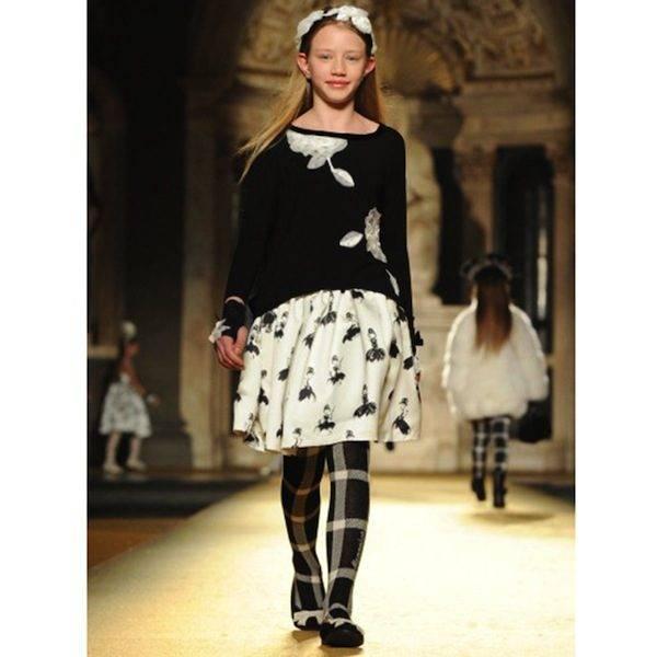 Monnalisa Girls White Satin Audrey Skirt