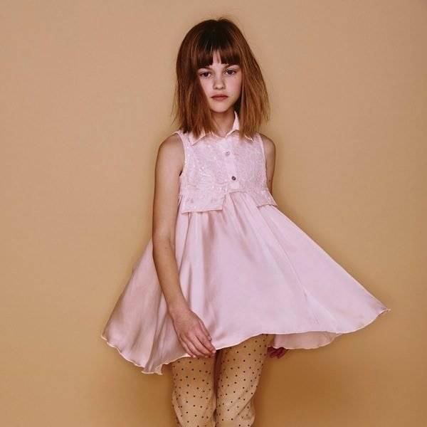 Monnalisa Pink Sleeveless Tunic Blouse
