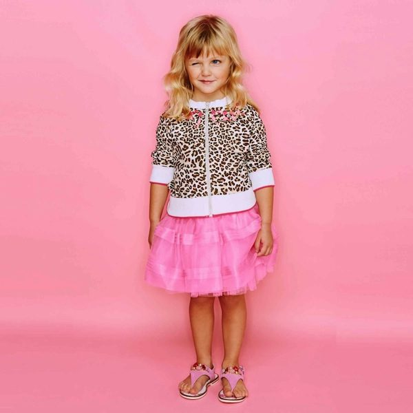 Monnalisa Pink Silk Organza & Tulle Skirt