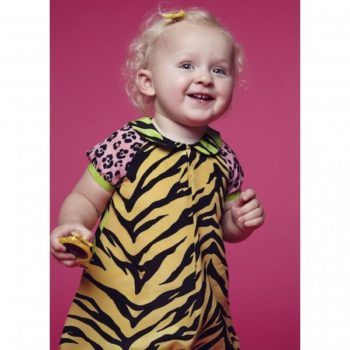 Moschino Baby Girls Tiger & Leopard Silk Dress & Knickers
