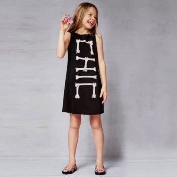 Moschino Black Bones 'Chic' Shift Dress