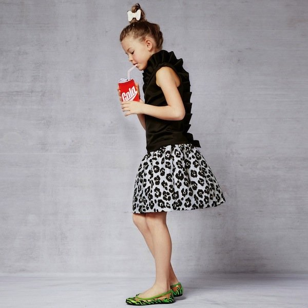 Moschino Black Leopard Brocade Skirt