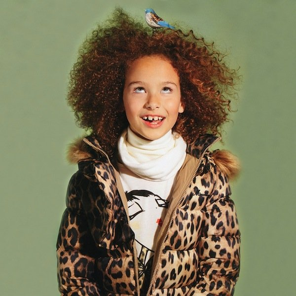 Moschino Girls Leopard Down Padded Coat