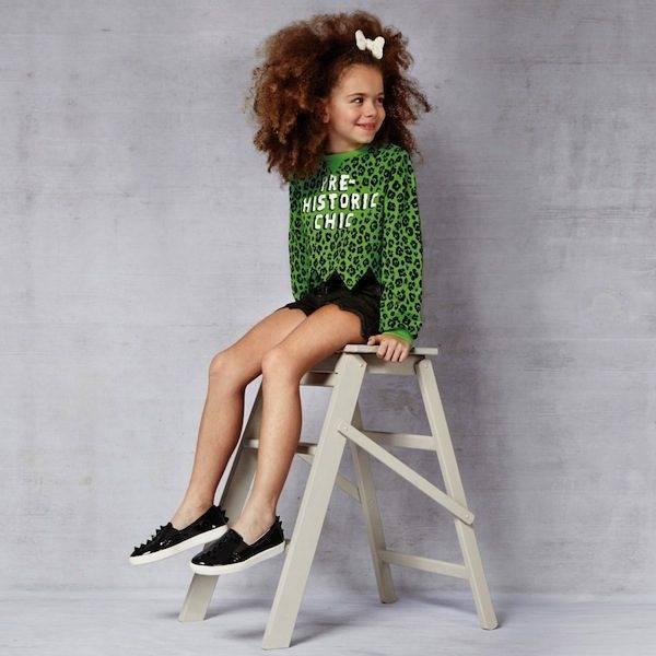 shop-look-MOSCHINO-KID-TEEN-Green-Pre-Historic-Chic-Cropped-Sweatshirt