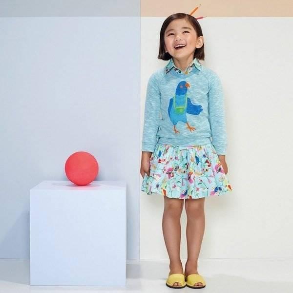 shop-look-OILILY-Blue-Cotton-Sannah-Skirt-with-Bird-Print