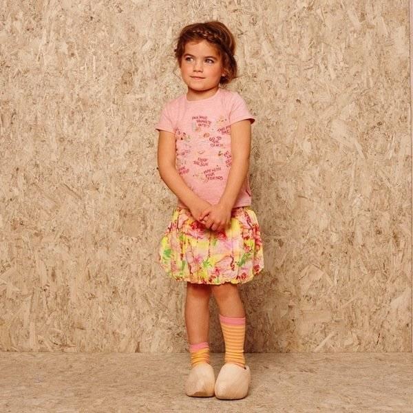 d9ee745bf Oilily Blue Cotton  Sannah  Skirt with Bird Print