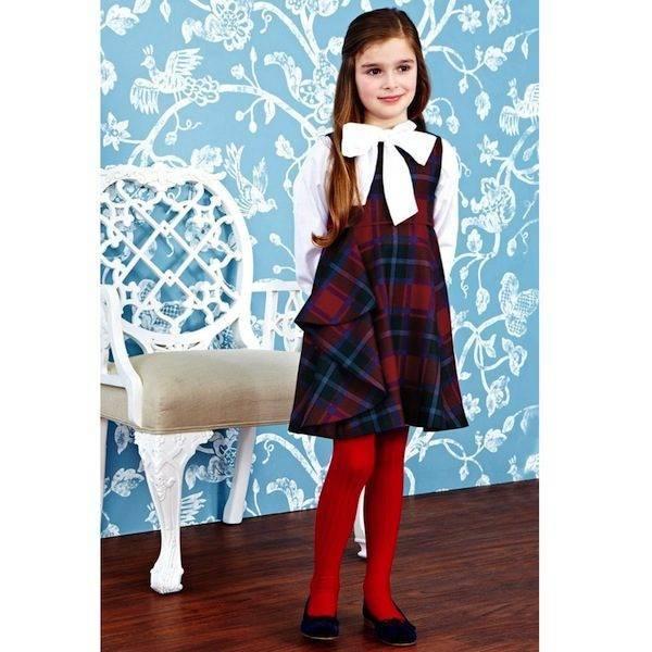 OSCAR-DE-LA-RENTA-Red-Tartan-Wool-Sleeveless-Dress