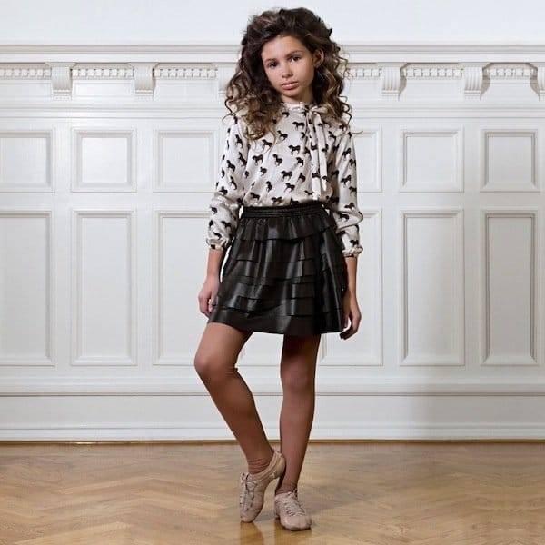 PALE-CLOUD-Brown-Leather-Jaya-Skirt