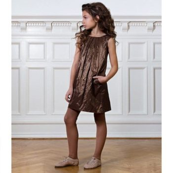 PALE-CLOUD-Metallic-Dark-Copper-Emmie-Dress