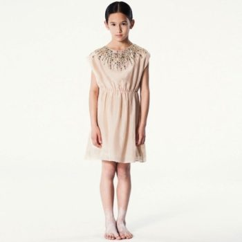 PALE-CLOUD-Peach-Silk-Dress-with-Jewelled-Neckline-