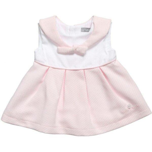 Tutto Piccolo Pink Jacquard Sailor Dress