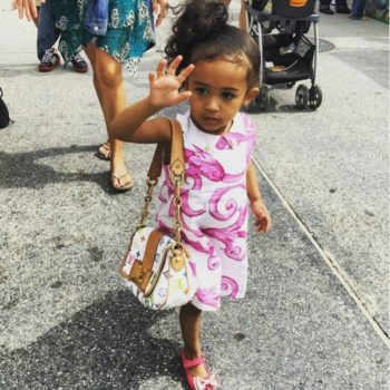 ROYALTY BROWN - YOUNG VERSACE WHITE COTTON DRESS WITH PINK BAROQUE