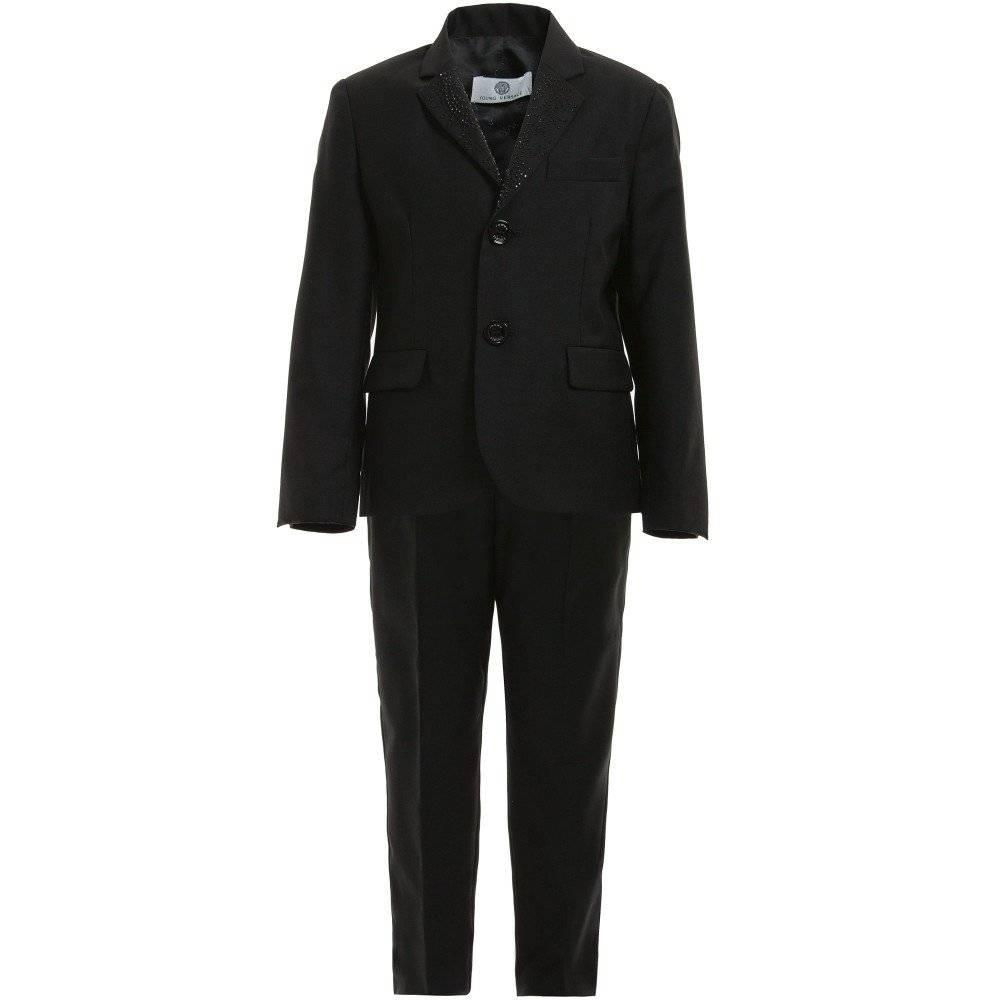 Young Versace Boys Black Blazer & Trouser Suit