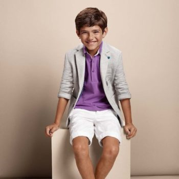 Boss Kidswear Boys Purple Polo Shirt Jacket Shorts SS15