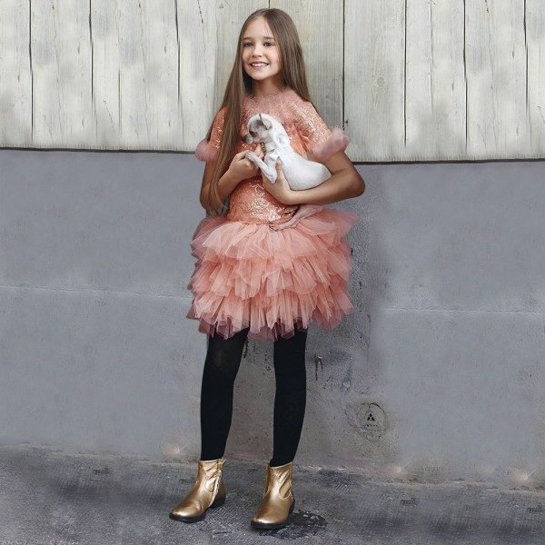 Miss Grant Sequin and Feather Dress