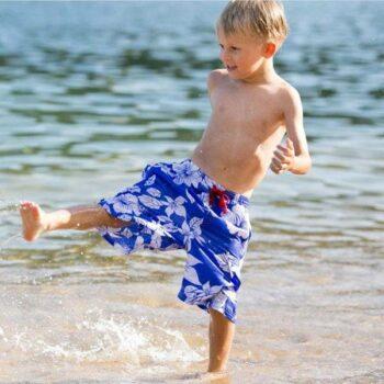 Mitty James Boys Blue Hawaiian Swim Shorts