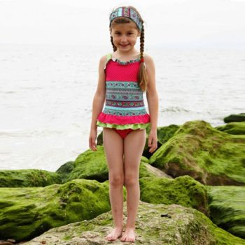 Mitty James Frilly Floral & Spot Print Swimsuit